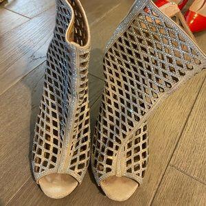 Gianvito Rossi silver heels